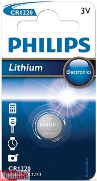 Батарейка Philips Lithium CR1220 1шт