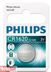 Батарейка Philips Lithium CR1620 1шт