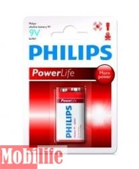 Батарейка Philips Powerlife 9V крона 6LR61P1B 6F22