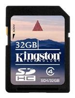 Kingston 32 GB SDHC Class 4 SD4/32GB