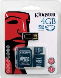 Kingston 4 GB microSDHC class 4 Multi-Kit MBLY4G24GB