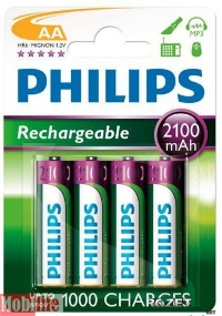 Philips MultiLife Ni-MH R6 (2100mAh) 4шт.
