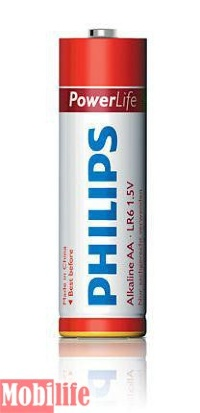 Батарейка Philips PowerLife AA LR06-PB4C 4шт Цена 1шт.
