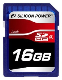 Silicon Power 16 GB SDHC class 4