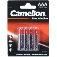 Батарейка Camelion AAA LR03 4шт. (Plus Alkaline) Цена 1шт