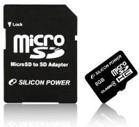 Silicon Power 8 Gb microSDHC (class 2) + Adapter