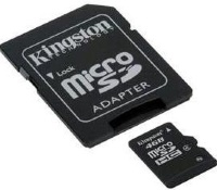 Kingston 16 GB microSDHC class 4 + SD Adapter SDC416GB