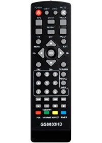 Пульт GoldStar GS8833HD PVR (DVB-T2, T), GS8833HD, Tiger AIR, Tiger T2 IPTV, Simax VA2103HD, Roks RKS-T201HD