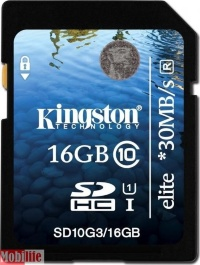 Kingston 16 GB SDHC Class 10 UHS-I Elite SD10G316GB