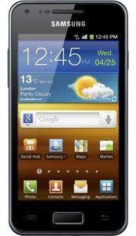 Samsung i9070 Galaxy S Advance metallic black