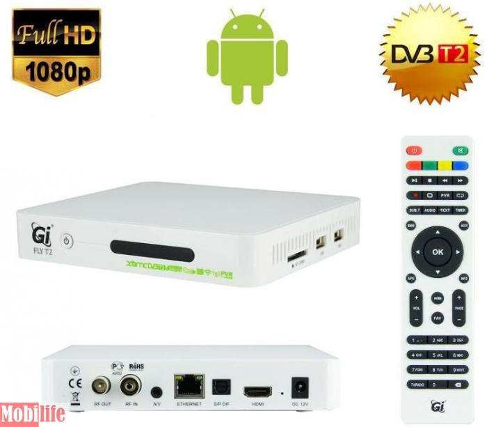 Тюнер Gi Fly T2, HD (DVB-T2, T) - 546596