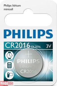 Батарейка Philips Lithium CR2016 1шт