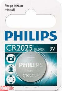 Батарейка Philips Lithium CR2025 1шт